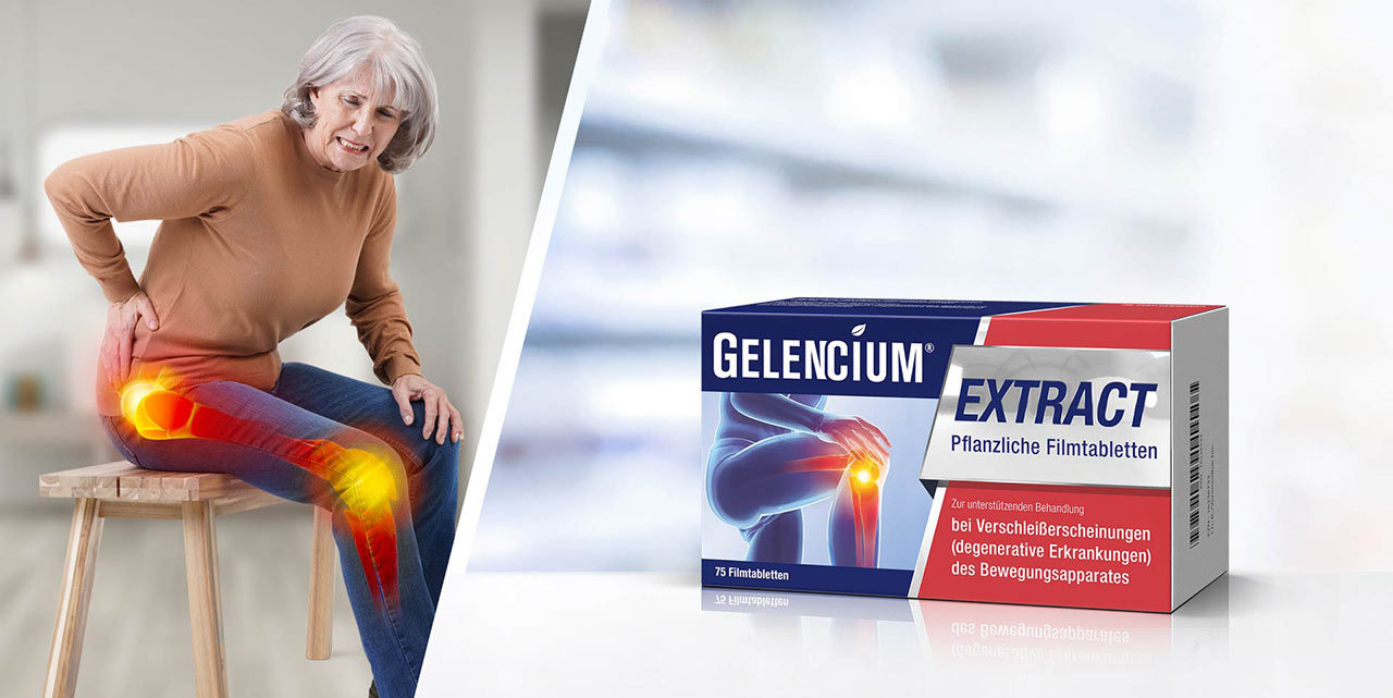 Ältere Frau mit schmerzenden Gelenken