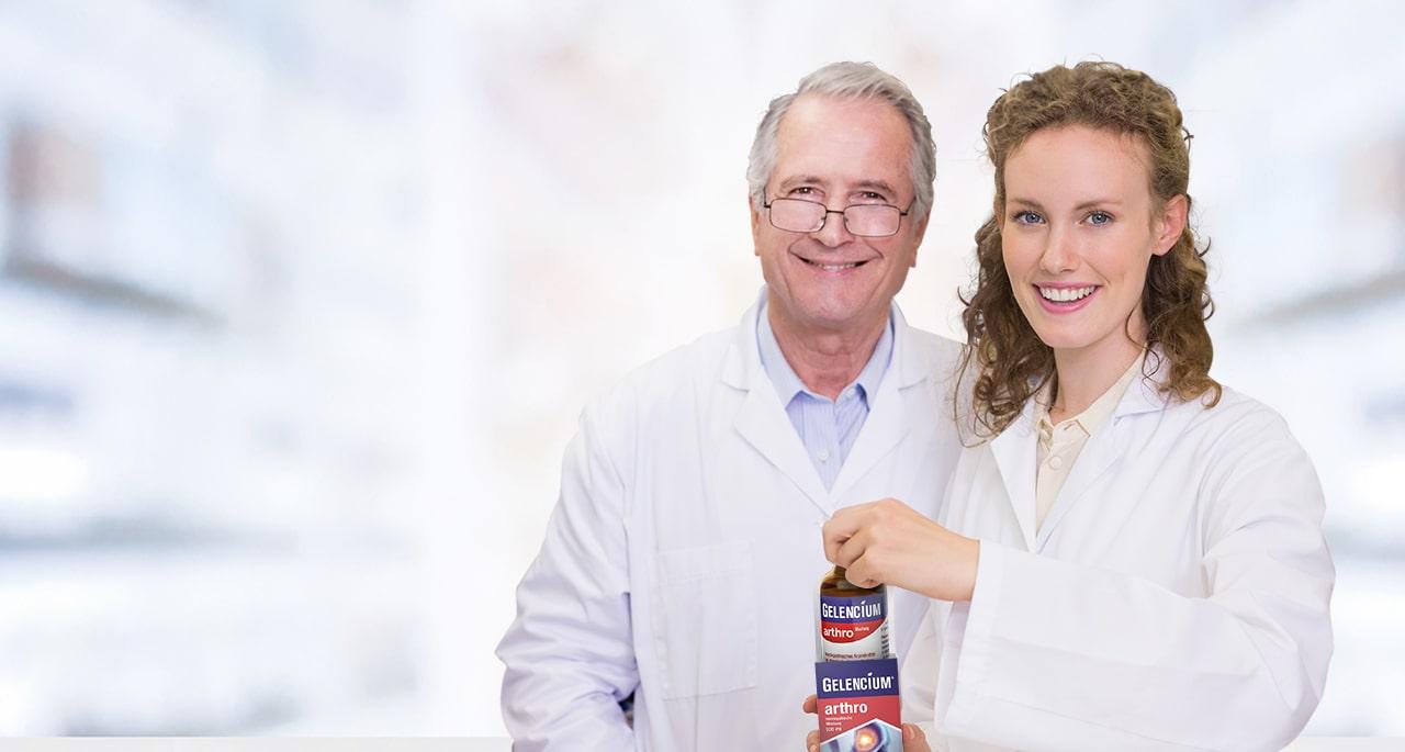 Ärzte mit GELENCIUM Packung