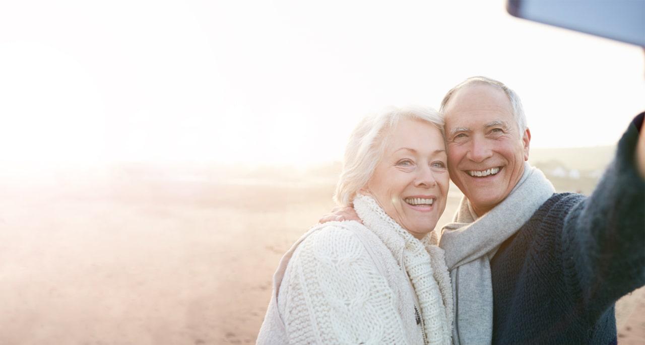 Lächelndes Ehepaar