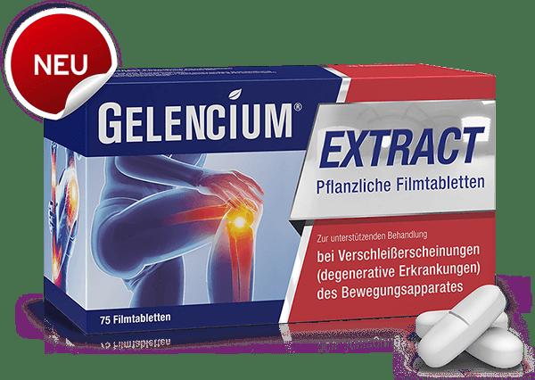 GELENCIUM EXTRACT Packung mit Tabletten